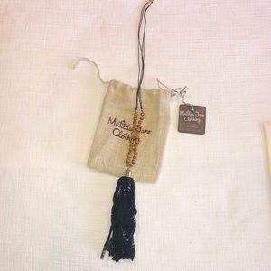 Matilda Jane women's necklace navy tassel necklace